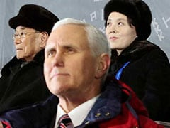 """Unpardonable"": North Korea Slams Mike Pence For ""Defaming"" Kim's Sister"