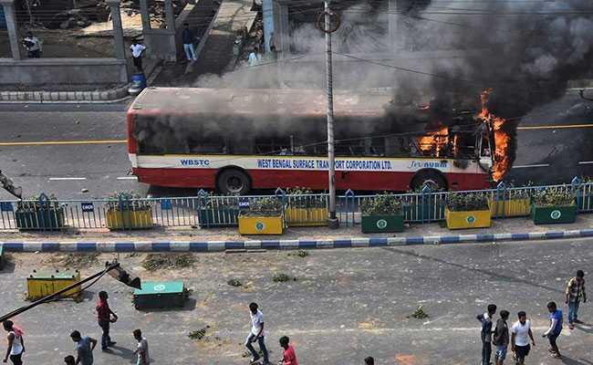 kolkata bus on fire pti