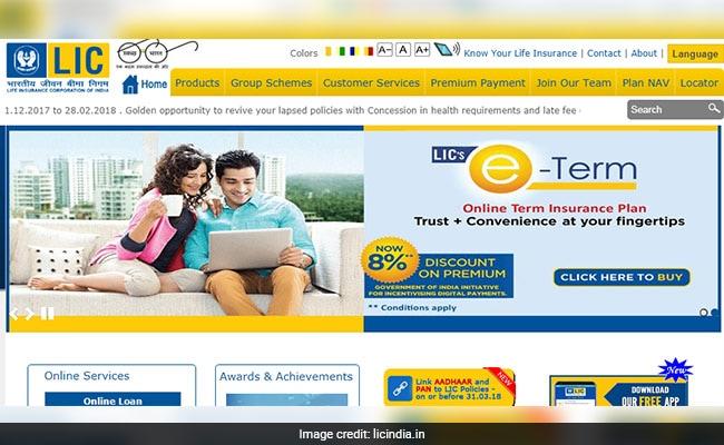 lic home page