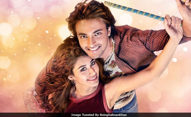 A Valentine S Day Gift From Salman Khan Loveratri Poster With