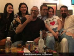 Sanjay Dutt And Maanyata Celebrated 10th Anniversary With Their 'Half Mental' Family