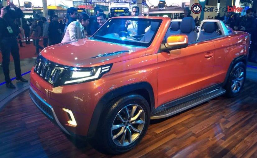 mahindra tuv stinger convertible suv concept