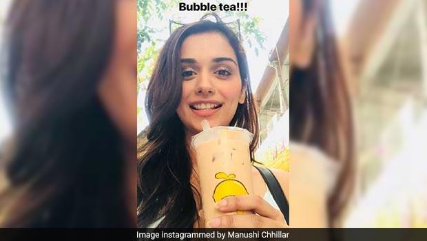 manushi chhillar bubble tea