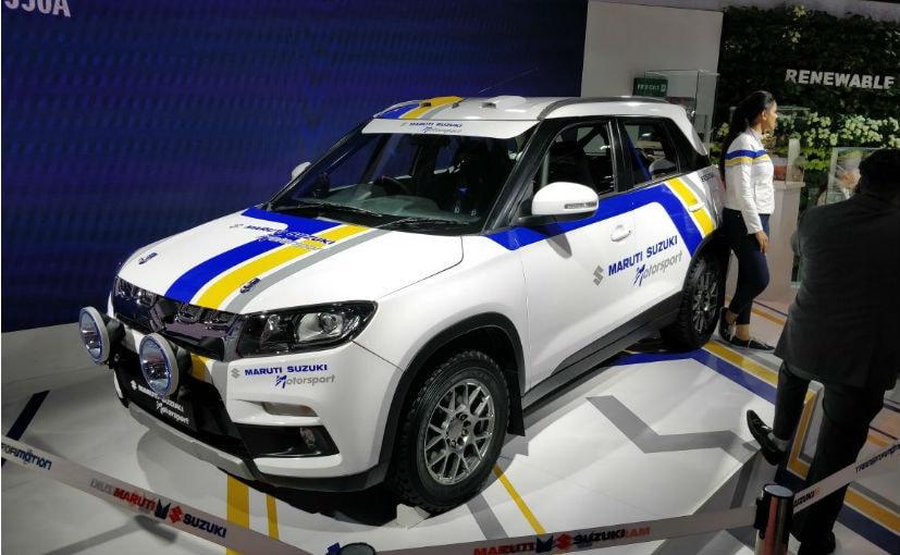 maruti suzuki vitara brezza rally car