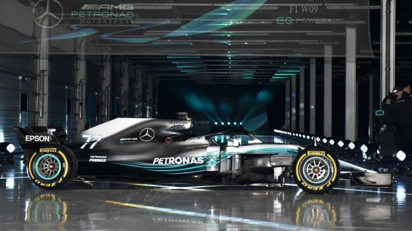 F1 mercedes amg reveals 2018 w09 eq power championship for Mercedes benz f1