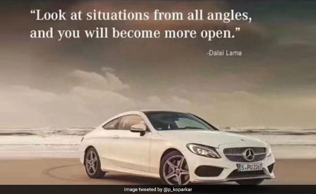 Mercedes-Benz Dalai Lama Quote in Ad Rattles China