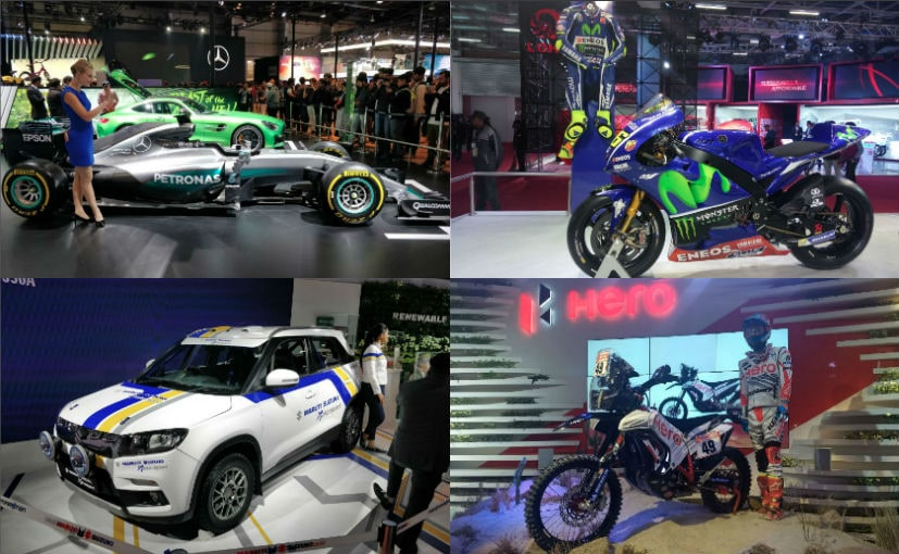 Almost every major manufacturer had a motorsport car or bike on display