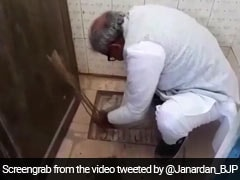 Madhya Pradesh Lawmaker Unclogs School Toilet With Bare Hands. Watch