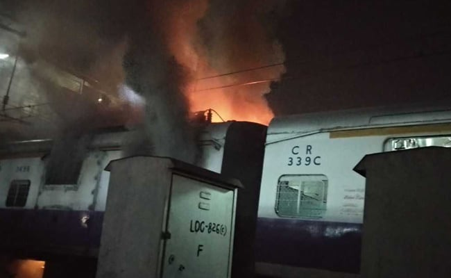 Fire On Mumbai Local Train At Dadar, Sparks Delays, Diversions