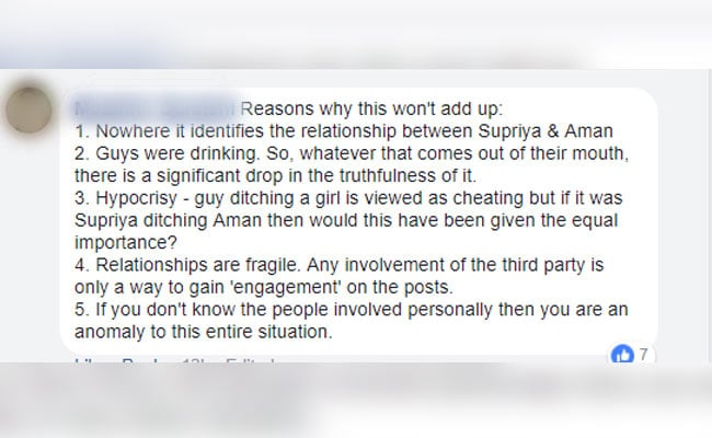 mumbai woman supriya aman fb post