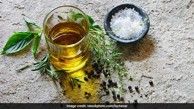 mustard oil and salt