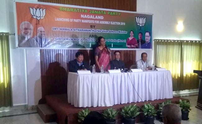 Union Defence Minister releases BJP manifesto for Nagaland polls