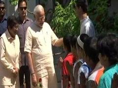 Prime Minister Narendra Modi Visits Aurobindo Ashram In Puducherry