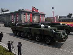 North Korea Holds Military Parade Day Before Winter Olympics