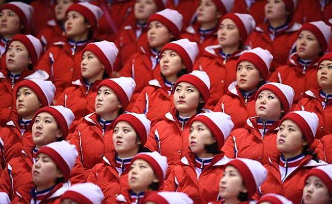 north korean cheerleaders afp