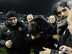 Greek Football Match Called Off After Coach Injured By Toilet Roll