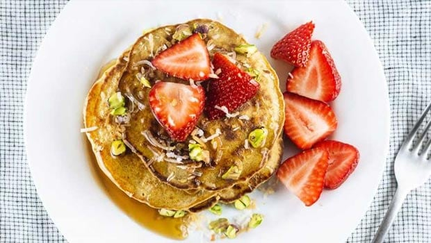 Strawberry Quinoa Pancakes