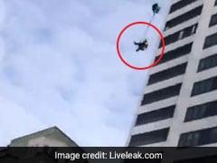 Video: Base Jumper Falls 24 Floors After Parachute Fails To Open. Survives