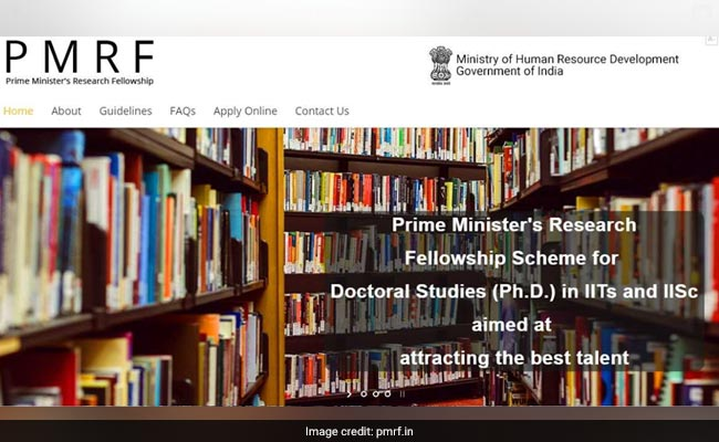 Online Registration For Prime Minister's Research Fellowship Begins