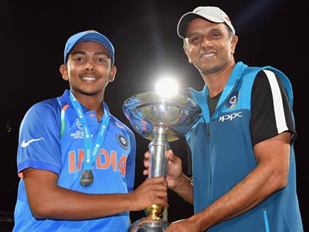 ICC U-19 World Cup: Prithvi Shaw Sends Heartfelt Message To Legend, Coach Rahul Dravid