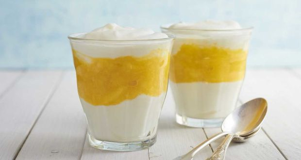 Tofu Mango Mousse Pudding