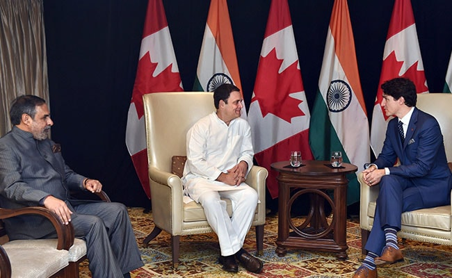 Rahul Gandhi Meets Justin Trudeau, Discusses Jobs, New Technologies