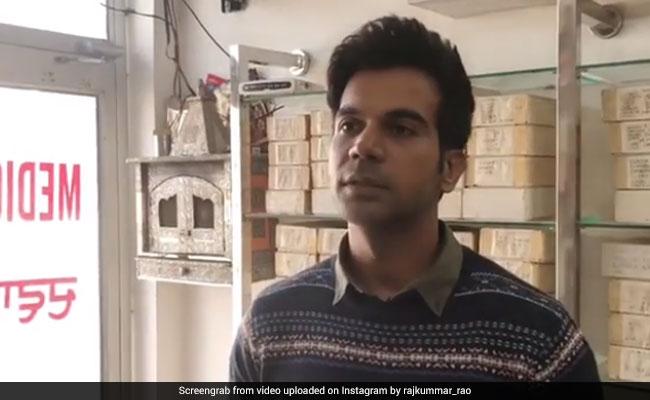 Raj Kummar Rao पहुंचे सैनिटरी नैपकिन खरीदने, Video में देखें दुकानदार से मिला कैसा रिएक्शन