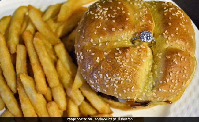 A Valentine's Day Burger Worth 2 Lakhs - Diamond Ring, Fries On The Side