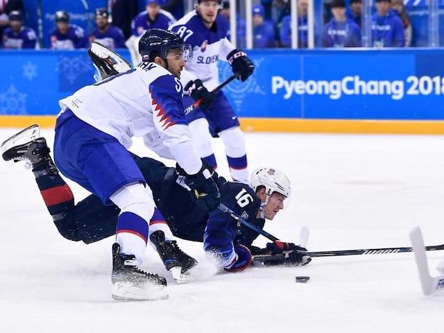 Pyeongchang Winter Olympics: USA Thrash Slovakia To Reach Hockey Quarter-Finals