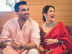 Sagarika Ghatge And Zaheer Khan. Just Like This, Forever