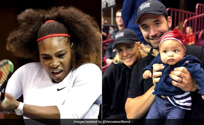 ICYMI: As Serena Williams Played On Court, Husband Was On Dad Duty