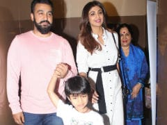 Shilpa Shetty Enjoys A Movie Date With Husband Raj Kundra And Son Viaan. See Pics