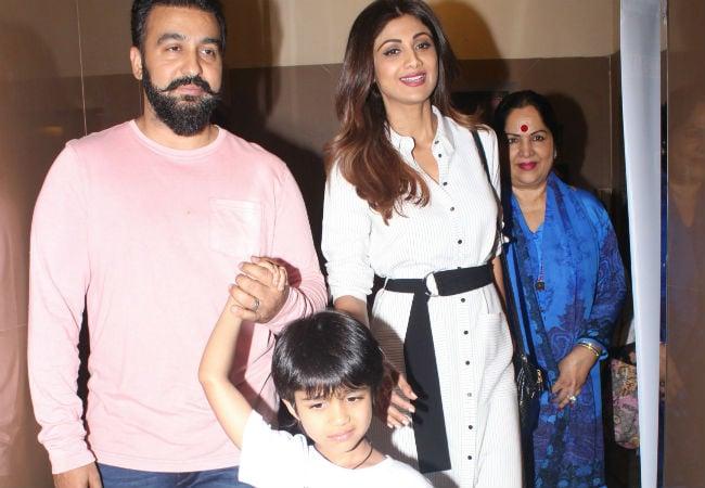 Shilpa Shetty Enjoys A Movie Date With Husband Raj Kundra And Son Viaan. See Pics
