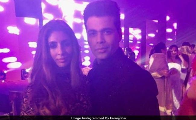 Shweta Bachchan And Karan Johar Take A Pic Together At Mohit Marwah's Wedding Festivities
