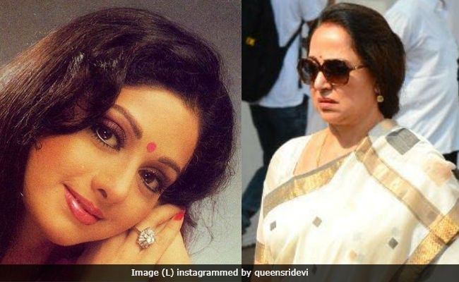 'Sridevi Lay There, Beautiful In A Red Saree' - Hema Malini's Farewell