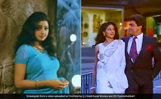 53d6f569a0 9 Sarees Sridevi Made Iconic, From Chandni's White Chiffon To Mr ...