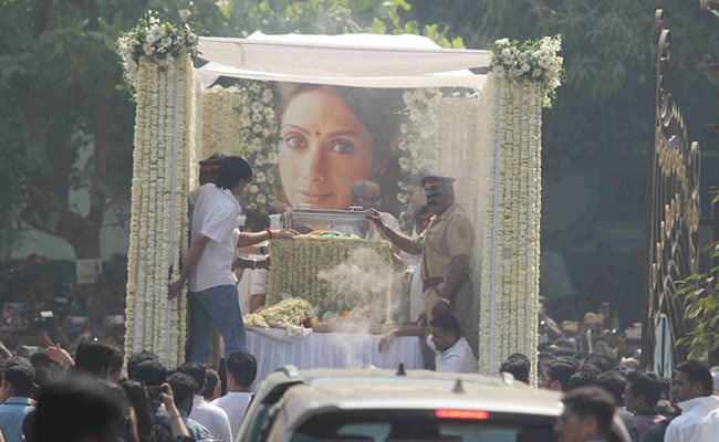 Sridevi Cremated With State Honours, Thousands Pay Last Respects: 10 Points