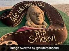 A Special Tribute To Sridevi By Odisha's Sand Artist Sudarsan Pattnaik