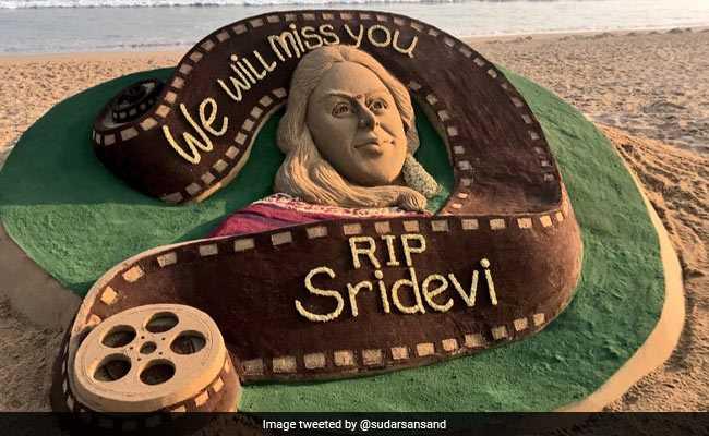 A Special Tribute To Sridevi By Odisha's Sand Artist Sudarsan Pattnaik