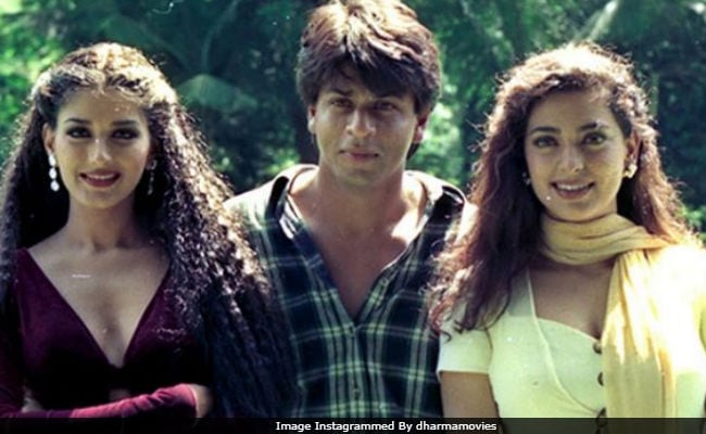 Shah Rukh Khan, Juhi Chawla And Sonali Bendre, In A Throwback Pic From Duplicate Sets