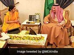 Sushma Swaraj Meets Saudi King, Discuss Steps To Boost Strategic Ties