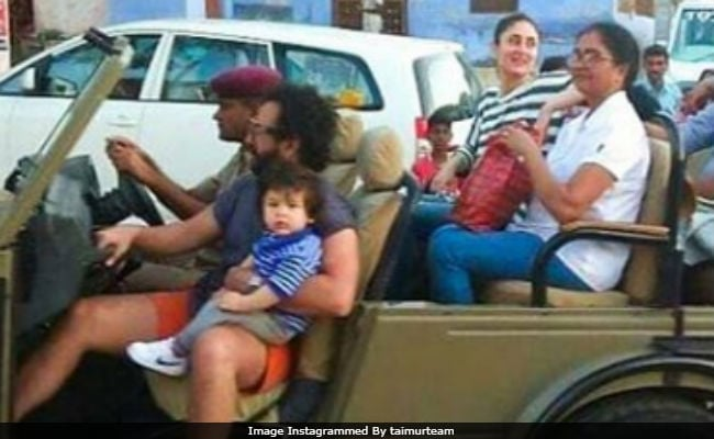 Taimur Takes A Jeep Ride With Parents Kareena Kapoor And Saif Ali Khan