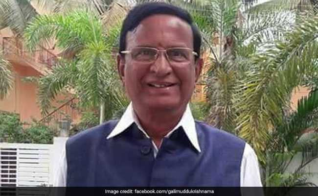 Veteran TDP Politician And Former Andhra Pradesh Minister Gali Muddu Krishnama Naidu Passes Away