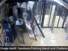 Video: Thieves Crash Car Into Glass Door, Get Away With ATM