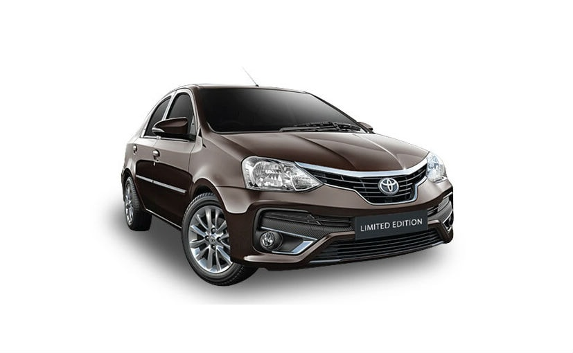 Toyota Etios Platinum Edition Launched Prices Start At Rs 7 84