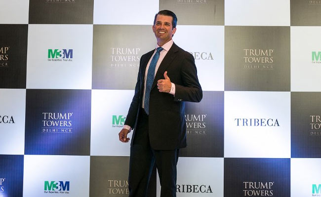 Trump Jr. arrives in India to address