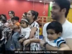 The Internet Loves Dad Tusshar Kapoor Lining-Up With Moms At Laksshya's School Activity