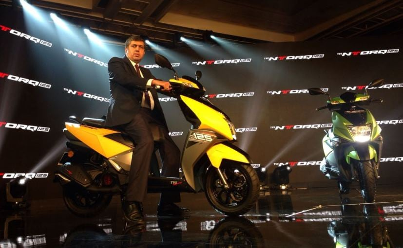 TVS NTORQ 125cc scooter launched, value in India pegged at Rs 58750