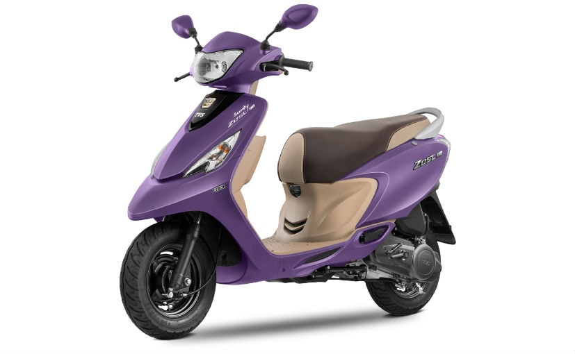 The TVS Scooty Zest 110 matte series was launched last year