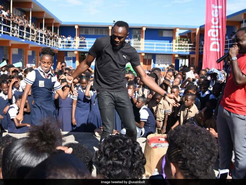 Watch: Usain Bolt Shows Off New Moves But Gets Schooled By Young Girl